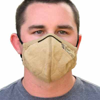 PGI BarriAire Gold Particulate Mask - 32001-00-194071 - Front