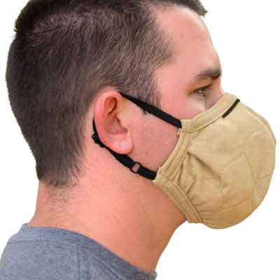 PGI BarriAire Gold Particulate Mask - 32001-00-194071 - Side