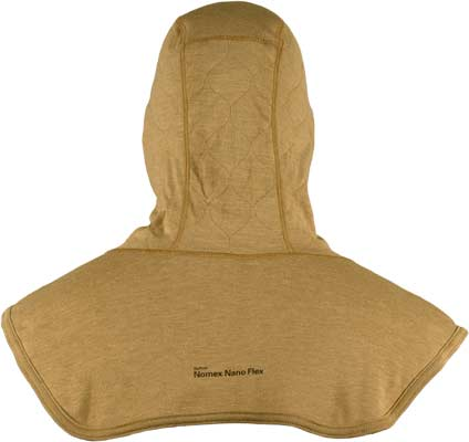 PGI BarriAire Gold Particulate Hood - Critical Coverage with Extended Bib and Rib Knit Face Opening 39701-00-194071 - Back