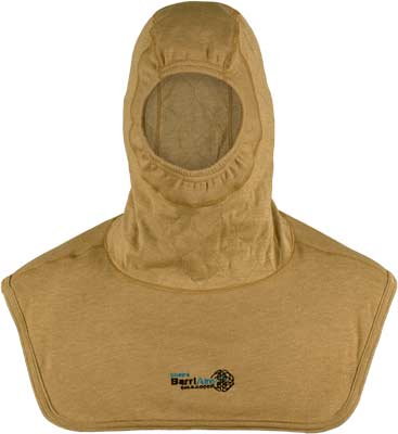 PGI BarriAire Gold Particulate Hood - Critical Coverage with Extended Bib and Rib Knit Face Opening 39701-00-194071 - Front