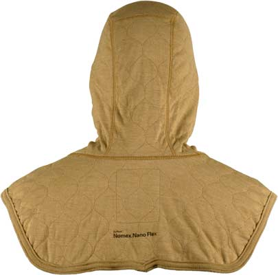 PGI BarriAire Gold Particulate Hood - Complete Coverage with Extended Bib and Rib Knit Face Opening 39704-00-194071 - Back