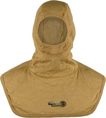 PGI BarriAire Gold Particulate Hood - Complete Coverage with Extended Bib and Rib Knit Face Opening 39704-00-194071 - Front