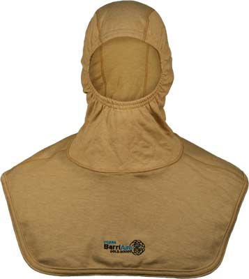 PGI BarriAire Gold Particulate Hood - Critical Coverage with Extended Bib and Nomex<sup>®</sup> Nano Flex Face Opening 39706-00-194071 - Front