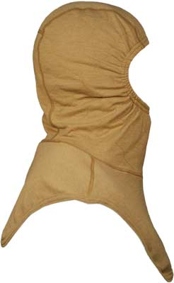 PGI BarriAire Gold Particulate Hood - Critical Coverage with Extended Bib and Nomex<sup>®</sup> Nano Flex Face Opening 39706-00-194071 - Side