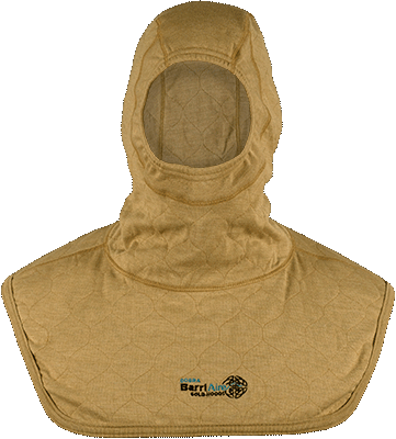 Complete Coverage Particulate Hood Extended Bib with Rib Knit Face Opening 3979471-4