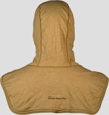 PGI BarriAire Gold Particulate Hood - Comprehensive Coverage with Extended Bib and Nomex<sup>®</sup> Nano Flex Face Opening 3979471-7 - Back