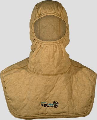 PGI BarriAire Gold Particulate Hood - Comprehensive Coverage with Extended Bib and Nomex<sup>®</sup> Nano Flex Face Opening 3979471-7 - Front